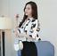 Verano-para-mujer-Floral-Casual-de-Gasa-Manga-a-Mitad-de-Superdry-holgado-Camiseta-Blusa-Camiseta miniatura 9