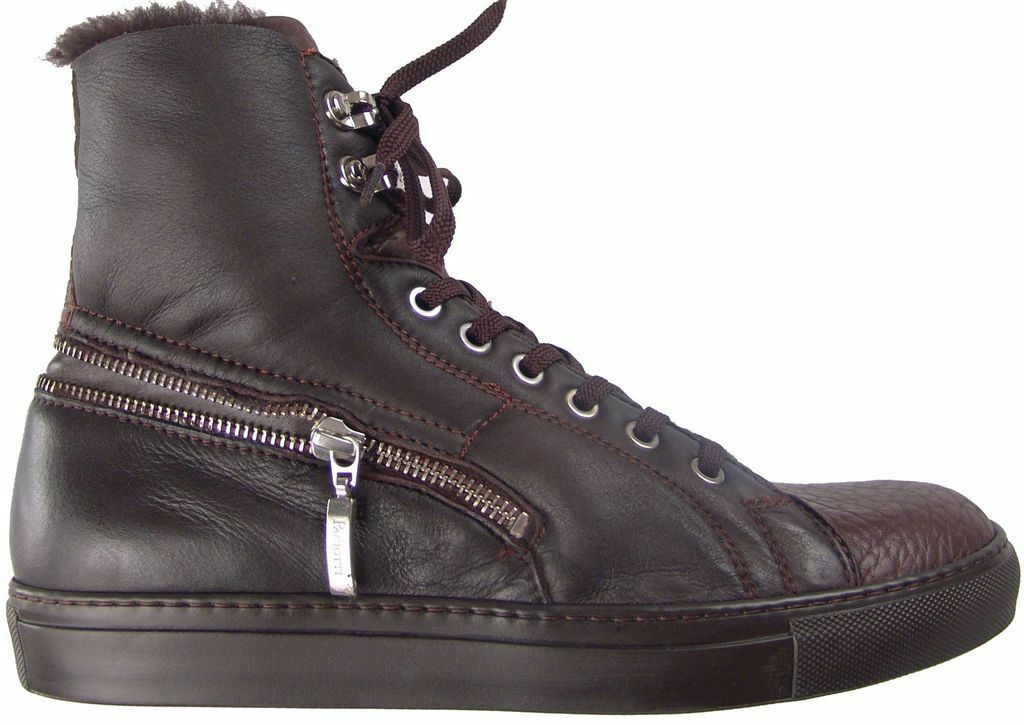CESARE PACIOTTI US 7 SHEARLING DEER SKIN stivali ITALIAN DESIGNER MENS scarpe