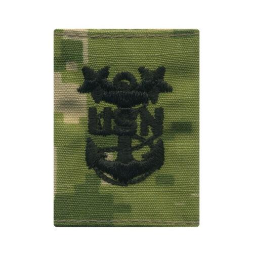 US Navy NWU Type III Parka Loop Rank E9 Master Chief Petty Officer