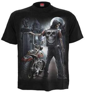 Spiral-Direct-OSCURO-Rider-Camiseta-Reaper-Motociclista-Calavera-Dark-Ropa