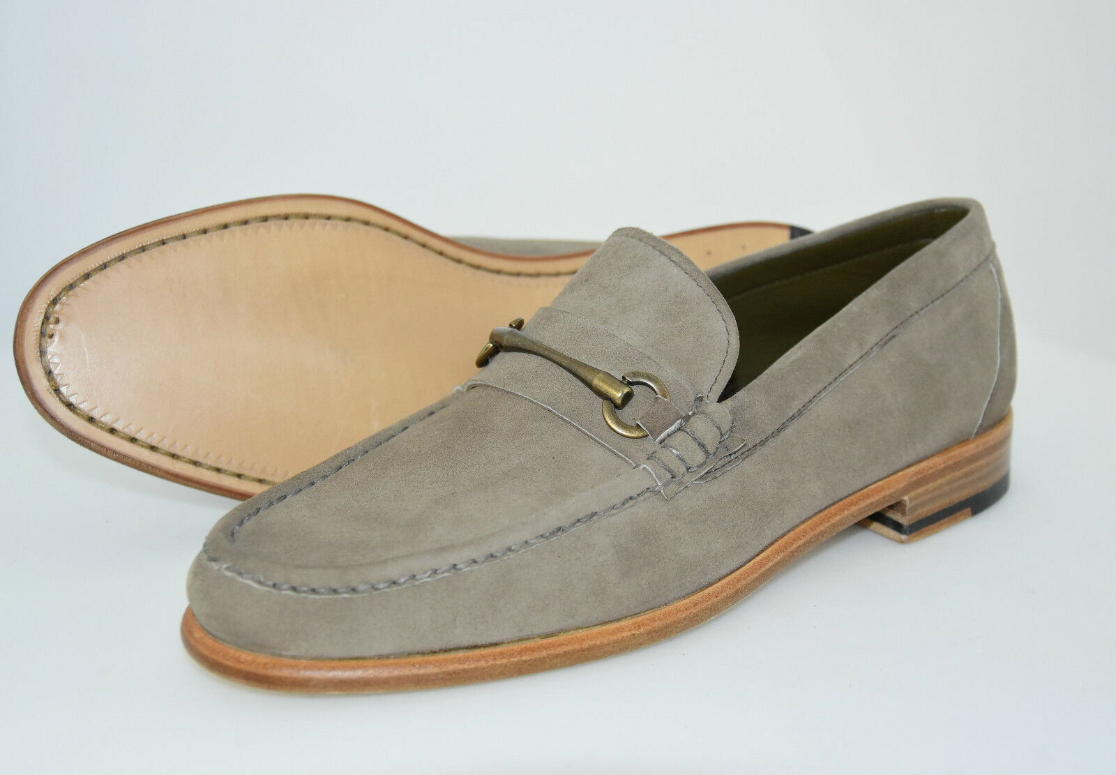 MAN HORSEBIT LOAFER-MOCASSINO-TAUPE SUEDE-CAMOSCIO TORTORA-LEATHER TORTORA-LEATHER SUEDE-CAMOSCIO SOLE d88836