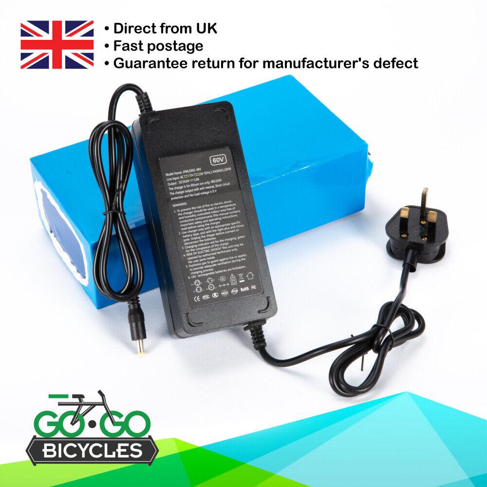 De litio-ion 60V 18AH Bicicleta Eléctrica Batería Para Motores 1500W Nuevo