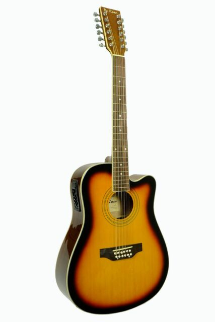 De Rosa 12 String Acoustic-Electric Guitar Tobaccoburst