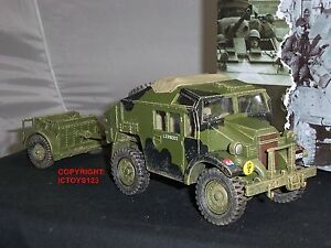 KING-AND-COUNTRY-DD202-MORRIS-C8-FIELD-ARTILLERY-TRACTOR-TRUCK-LIMBER-VEHICLE