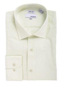 Slim-Fit-Lime-Green-Tonal-Chevron-Check-Spread-Collar-Cotton-Blend-Dress-Shirt
