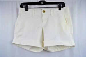 Old-Navy-Womens-Size-2-Favorite-Khaki-Perfect-5-034-Shorts-Low-Rise-White-Cuffed