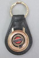 Vintage Gold Chrysler Wax Seal Black Leather Usa Keyring 1932 1933 1934 1935