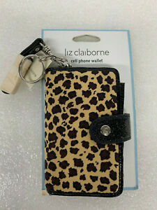 Liz-Claiborne-New-SLRUF078-LEOPARD-Case-for-Cell-Phone-and-Wallet