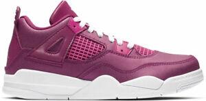 "5b60a879c0e855 Air Jordan Retro 4 ""Berry Pink"" True Berry Rush Pink-White (PS ..."