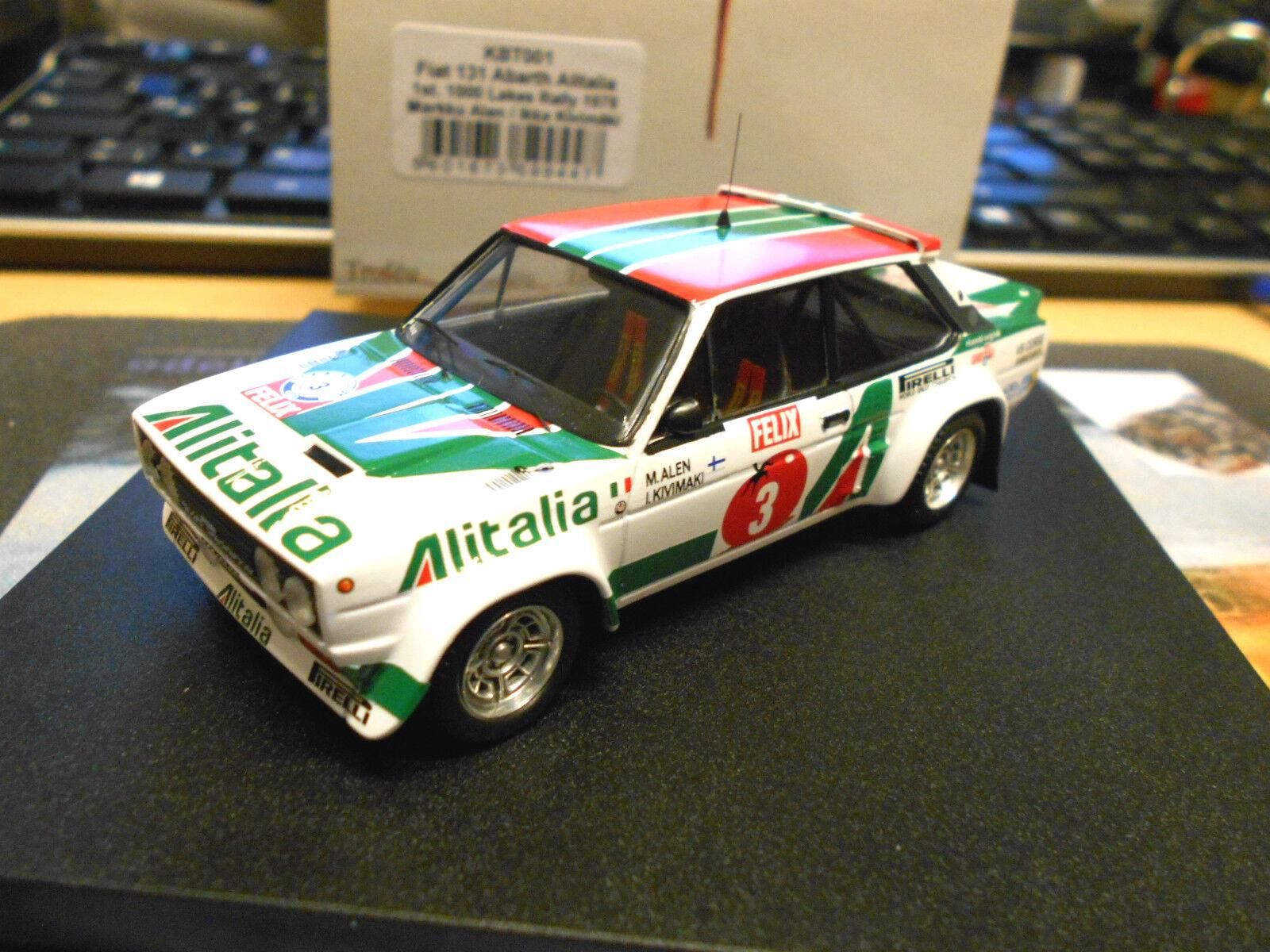 FIAT 131 ABARTH RALLY WM 1000 Lakes 1978 Alen WINNER Finland Limit Trofeu 1:43