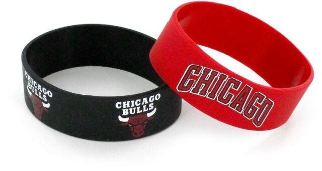 4-Pack aminco NBA Chicago Bulls Silicone Bracelets