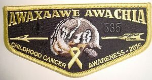 AWAXAAWE-AWACHIA-535-TRAPPER-TRAILS-UT-PATCH-OA-100TH-2015-CANCER-AWARENESS-FLAP