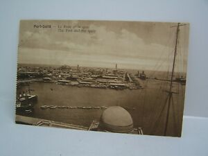 POSTCARD, PORT SAID, EGYPT, VIEW , PORTAND QUAY, PORT SAID, VINTAGE