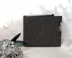 11a0ba90c63a Michael Kors Mens Jet Set Billfold Wallet in Brown Signature Bi Fold ...