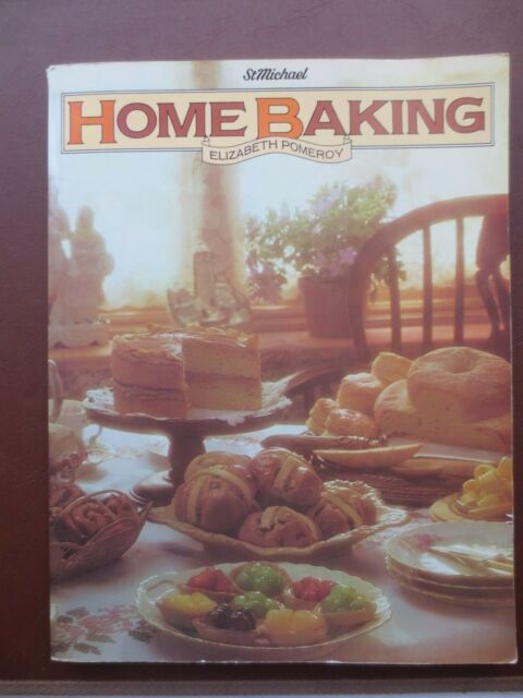 Vintage Cook Book HOME BAKING Cake Bread Loaf Recipes RETRO St Michael 1980s