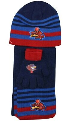 Beanie Hat /& Scarf Set One size 4-10 Years Girls Official Licensed Paw Patrol Skye Gloves