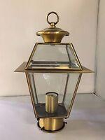 Antique Solid Brass Outdoor Lamppost Head Lamp Post Lighting Street Light