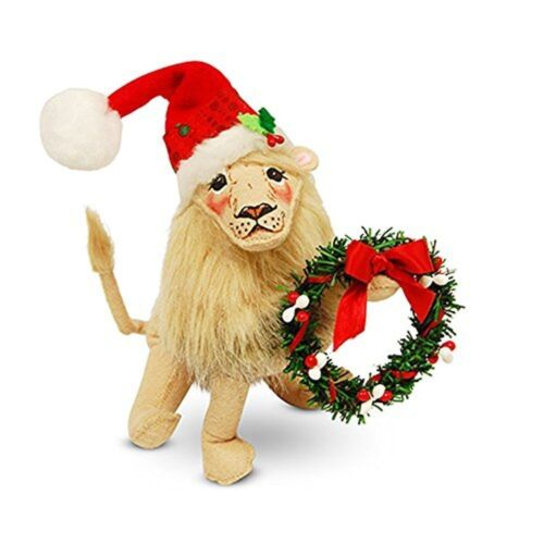 ANNALEE  CHRISTMAS FESTIVE LION /& WREATH BRAND NEW  FINAL 1 FOREVER