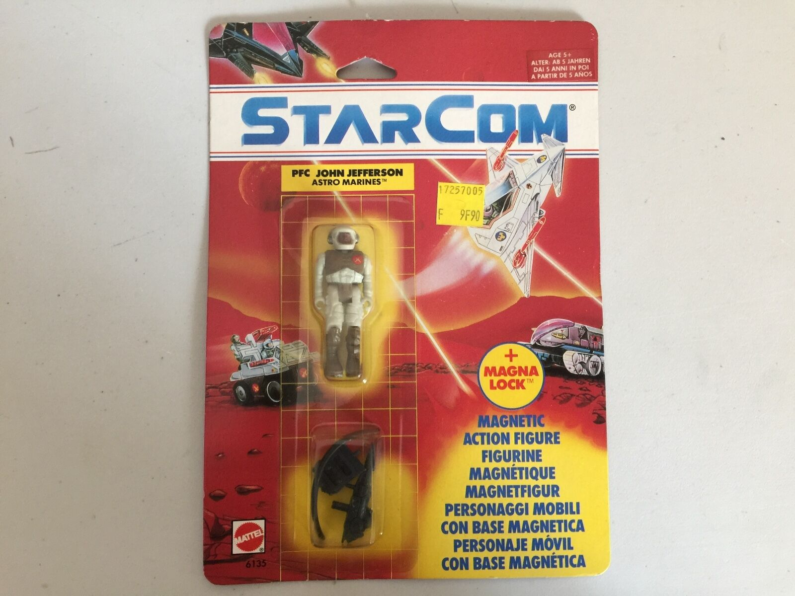 STARCOM Pfc. John JEFFERSON figure MOSC new Mattel european mint
