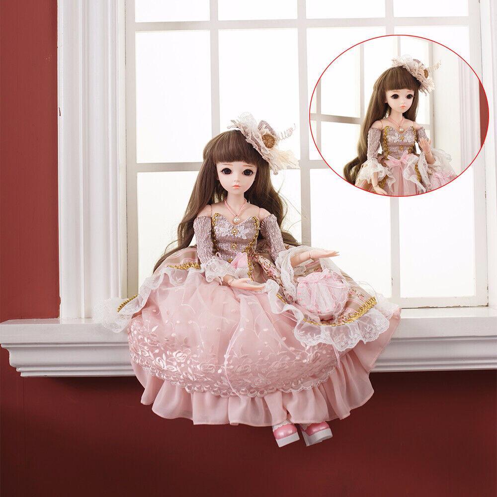 1 3 muñeca de BJD SD niño Muñecas Lindo Bebé Niña con traje ropa de Maquillaje de Cara
