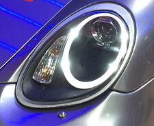 Porsche 987 Boxster Cayman MK1 991 style BLACK LED DRL Projector Headlights