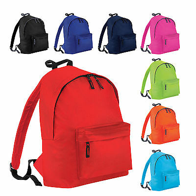 Childrens Junior Rucksack Backpack Kids Infant School Plain Bag Sports Swimming