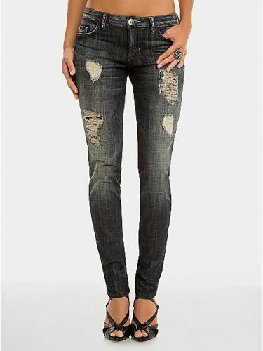 248 NWT MARCIANO GUESS  REBELLIOUS GLAM SKINNY JEANS 27 HOT   LAST1
