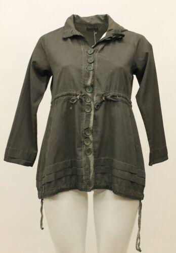 femmes avec capuche Veste pour Kekoo coton en boutons à Zqnp1v
