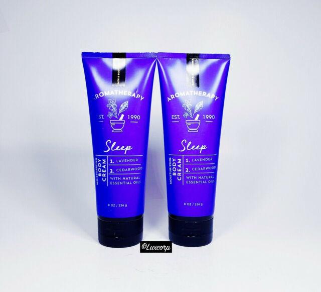 2 Bath & Body Works SLEEP Lavender + Cedarwood Aromatherapy Body Cream 8 oz NEW