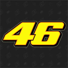 2 X Start Number Valentino Rossi 46 The Doctor Sticker Moto