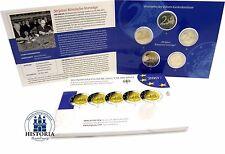 Deutschland Römische Verträge 5 x 2 Euro Spiegelglanz 2007 PP Mzz A; D; F; G; J