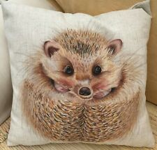 Evans Lichfield Cute Repeated Hedgehogs Cushion Cover or Filled 43cm x 43cm