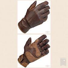 Guanti Moto Pelle Biltwell, Gloves, Work Gloves, Chocolate Biker Custom Marroni