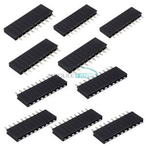 20PCS-2-54mm-1x10-Single-Row-10Pins-Header-PCB-Socket-Female
