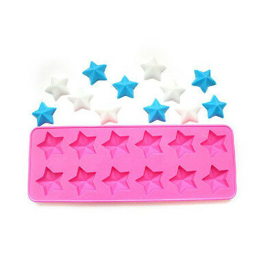 DIY Silicone Cake Mold, Soap Mold 12-Star Flexible Mould For Candy Chocolate