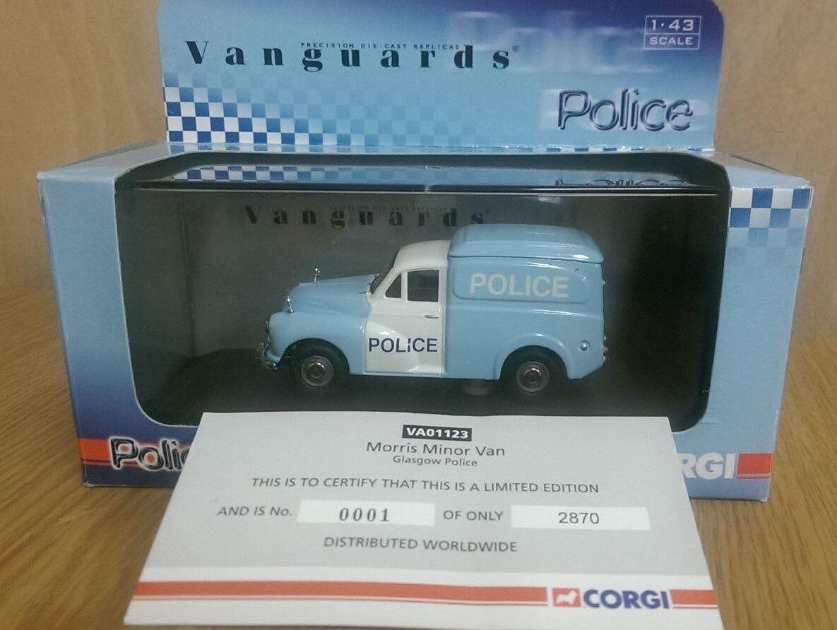 Corgi VA01123 Morris Minor Glasgow Police Van Ltd Edition No. 0001 of 2870