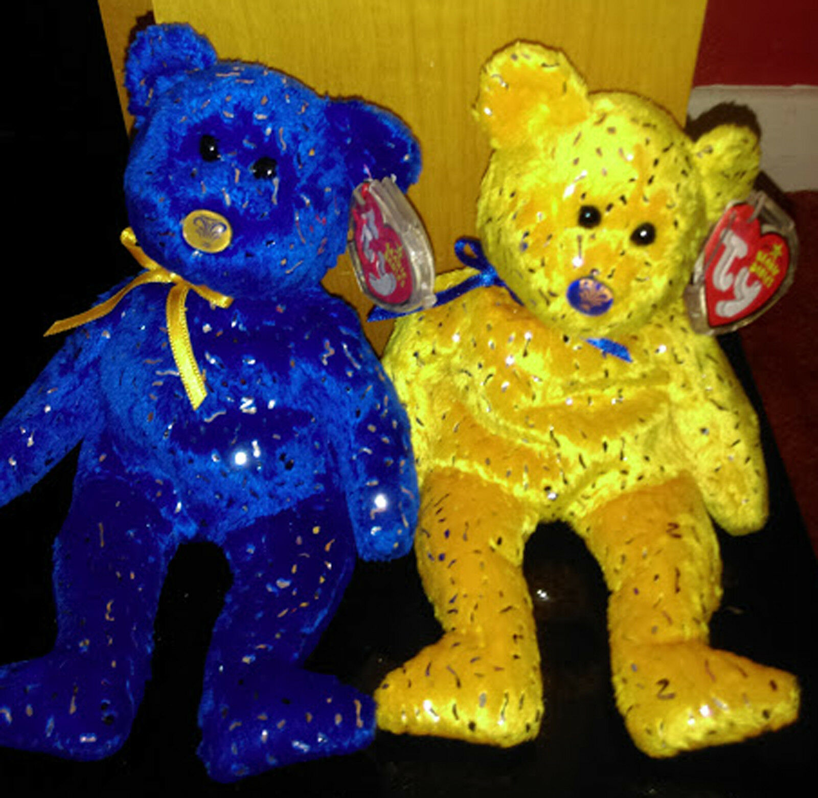 Ty Beanie Baby Bears  DISCOVER Northwestern Mutual Exclusive Bear Set bluee gold