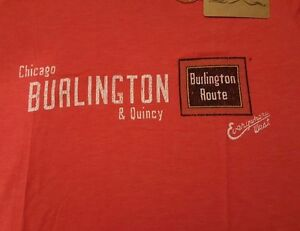 Ringaboy-Ladies-T-Shirt-Burlington-Railroad-New-With-Tags-Size-2XL