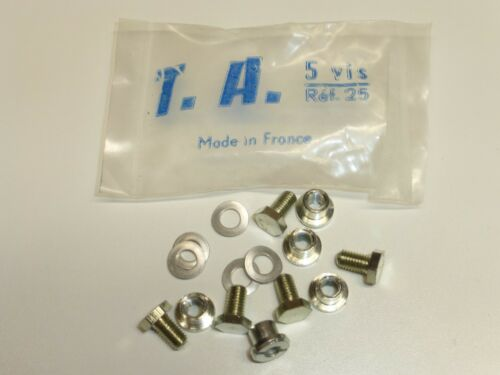 """Bolts /""""Single/"""" Chainring Nuts Ref 25 Vintage TA and Washers NOS"""