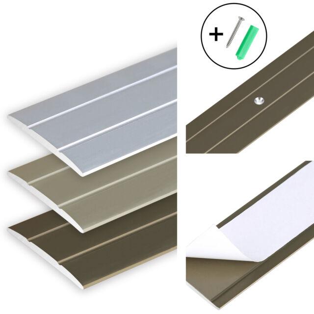 /Übergangsleiste Bodenprofil Bodenleiste Aluprofil Silber Aluminiumprofil Silber 1860 mm /Übergangsprofil 70 x 6,55 mm