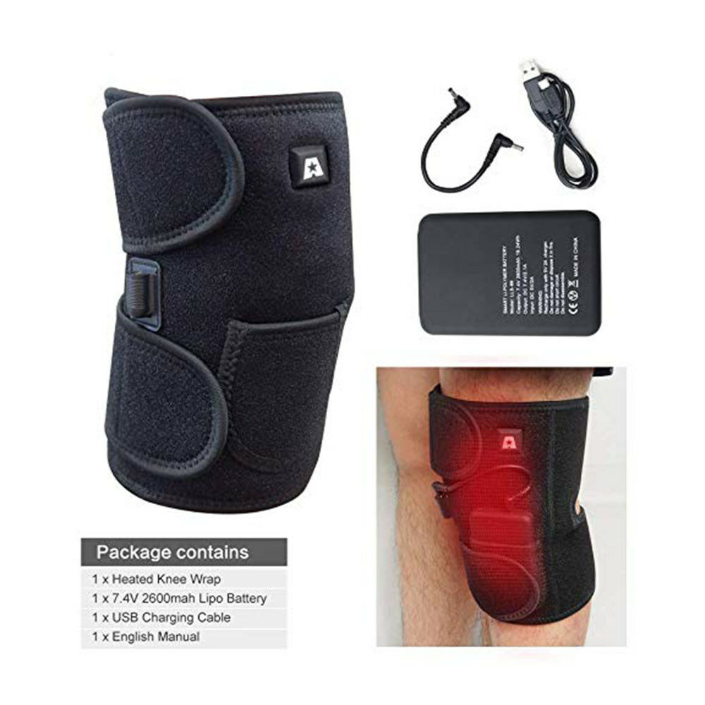 ARRIS Heated Knee Brace Wrap W  7.4V Battery Electric Therapeutic Pain relief US  factory outlets