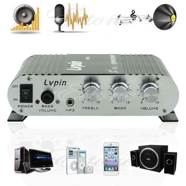 20W 12V Mini Hi-Fi Amplifier Booster MP3 Radio Stereo For Car Motorcycle Home N