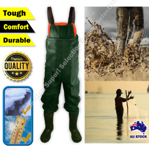 Farmers Waterproof PVC Chest Waders Fly Coarse Sea Fishing Breathable No Leak