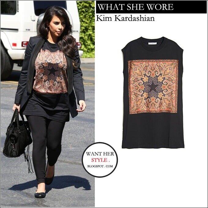 Givenchy t shirt Seen On Kim Kardashian M