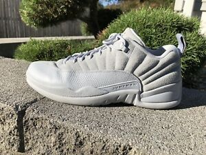 862aaf874be Air Jordan 12 Retro Low Wolf Grey Suede Armory Navy 308317 002 SZ 13 ...