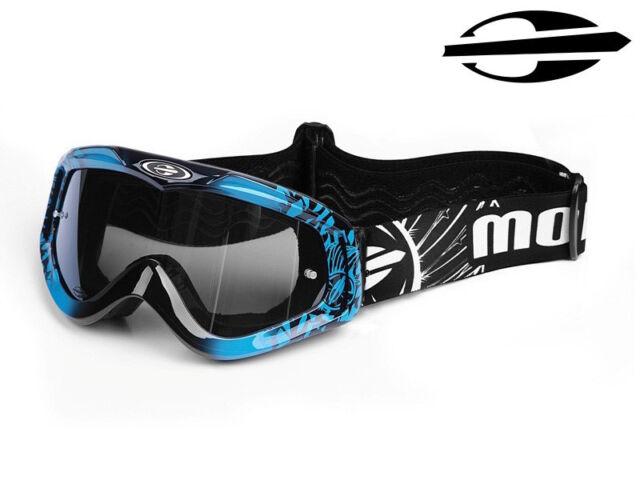 7ddaeb1e1274d New Mormaii Model MX Mens Motorcycles Motocross Hand Painted Google Mask  Blue