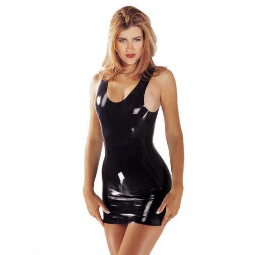 dress latex Sexy black