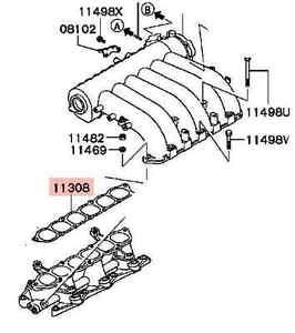 Genuine-Inlet-manifold-plenum-Gasket-Mitsubishi-Magna-3-0l-3-5-V6-6-TH-TJ-TL-new