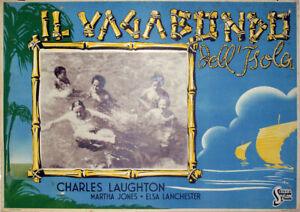 EXOTIC-AVENTURE-The-Beachcomber-CHARLES-LAUGHTON-1938-FOTOBUSTA-Erich-Pommer