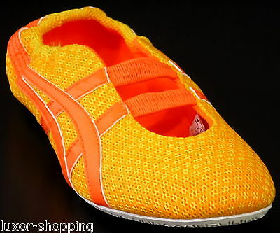 Neu ASICS Onitsuka Tiger Gymnastic Gr.39,5 UK-5,5 Damen Schuhe Ballerina gelb